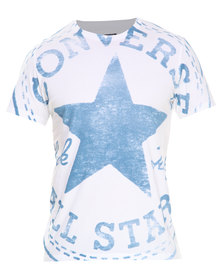 Converse M19 Exploded Chuck Patch Tee White