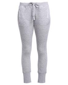 Converse Yarn Dye Fleece Track Pants Vintage Grey Heather