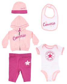 Converse 5-piece Layette Hanging Set Pink