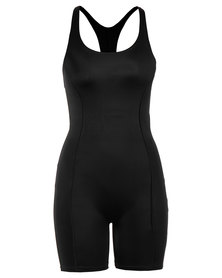 Cor-e Boyleg Full Body Swimsuit Black