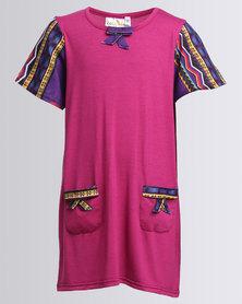 Cotyledons African Print Detail Dress Multi