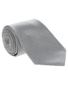 Cravateur Circle Pattern Tie White