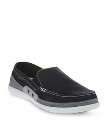Crocs Walu Accent Slip-On Shoes Black