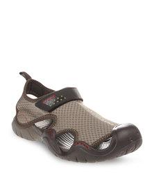 Crocs Swift Water Sandals Khaki
