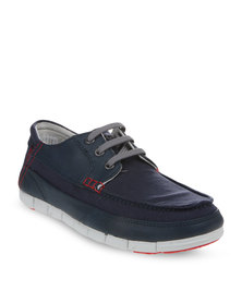 Crocs Stretch Sole Lace-Up Shoes Navy
