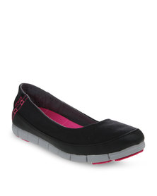 Crocs Stretch Sole Flat Shoes Black