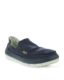 Crocs Stretch Sole Loafers Navy