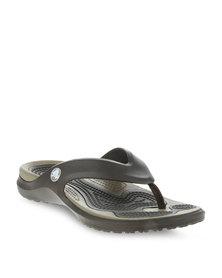 Crocs Modi Flip Slip-Ons Brown