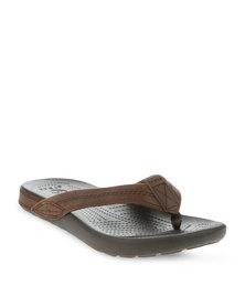 Crocs Yukon Flip Slip-Ons Brown