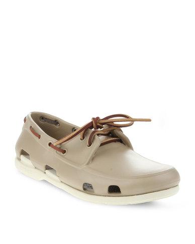 crocs crocs beach line boat shoe brown crocs casual slip ons casual