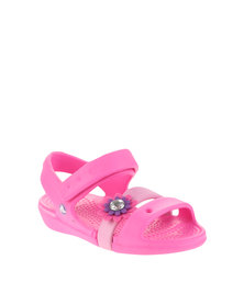 Crocs Keeley Petal Charm Sandals Pink