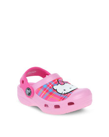 Crocs Creative Clogs Hello Kitty Plaid Clog Pink