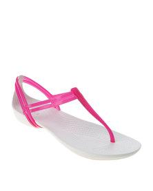 Crocs Isabella T-Strap Sandal Berry & Oyster