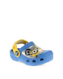 Crocs CC Minions Clogs Blue and Yellow