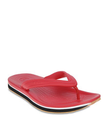 Crocs Retro Flip-Flops Red