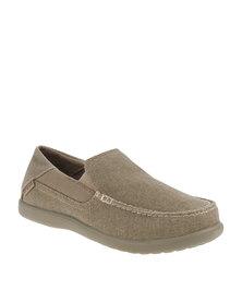 Crocs Santa Cruz 2 Luxe Slip-Ons Khaki