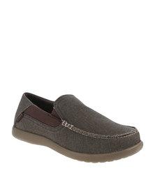 Crocs Santa Cruz 2 Luxe Slip-Ons Brown