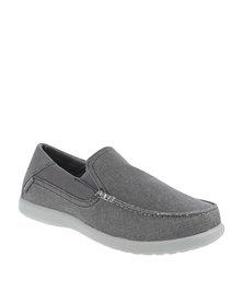 Crocs Santa Cruz 2 Luxe Slip-Ons Grey