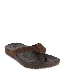 Crocs Yukon Flip Flops Espresso