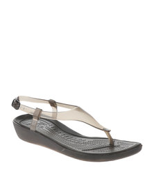 Crocs Really Sexi T-Strap Sandals Brown