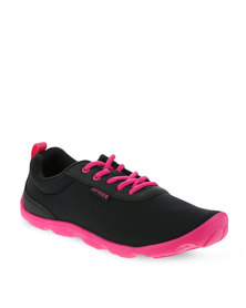 Crocs Duet Busy Day Lace-Up Sneakers Black
