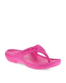 Crocs Baya Flip Flops Pink