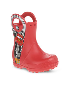 Crocs Handle It Rain Boots Mcqueen Red