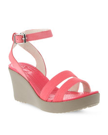 Crocs Leigh Wedge Taupe/Pink
