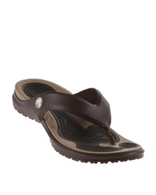 Crocs MODI Flip Flops Espresso & Khaki