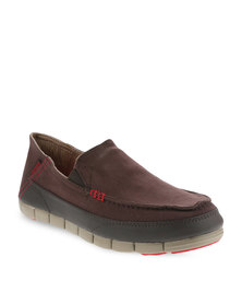 Crocs Stretch Sole Loafer Brown