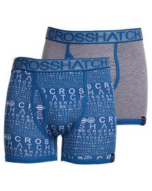 Crosshatch Squint 2 Pack Briefs Set Blue