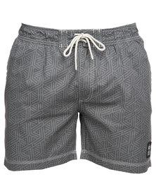 Crosshatch Abstrack Shorts Grey