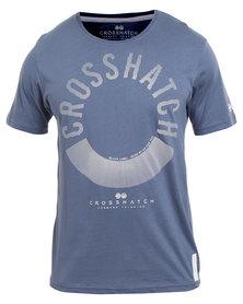 Crosshatch Mens Sunrise Tee Blue