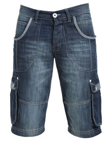 Crosshatch Kanaster 16 SW CH Denim Short Blue