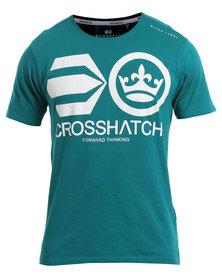 Crosshatch Jomei PK A CH Symbol T-Shirt Teal
