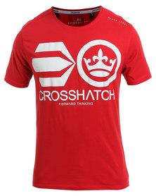 Crosshatch Jomei PK A CH Symbol T-Shirt Red
