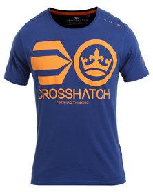 Crosshatch Jomei PK A CH Symbol T-Shirt Blue