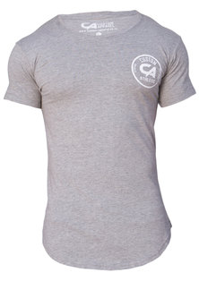 Custom Apparel Athletic Curved Bottom Drop-Tee Grey Melange