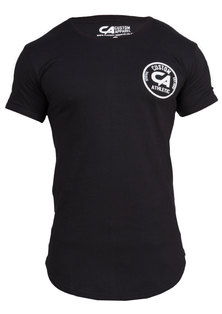 Custom Apparel Athletic Curved Bottom Drop-Tee Black