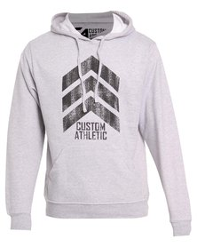 Custom Athletic 3-Point Hoodie Grey