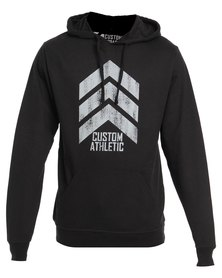 Custom Athletic 3-Point Hoodie Black