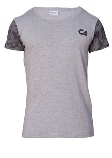 Custom Apparel Rose Range Tee Rose Sleeves Grey