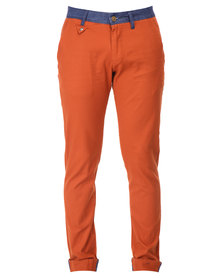 Cutty Henley Stretch Trousers Rust