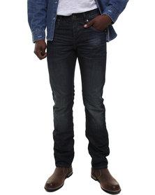 Cutty Michaels Slim Fit Denim Jeans Blue
