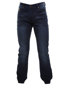 Cutty Cooper Knitted Denim Jogger Blue