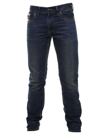 Cutty Ritchie Slim Leg Denim Jean Blue