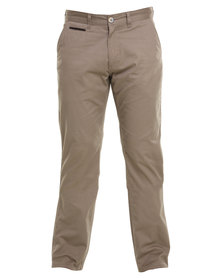 Cutty Robben Slim Leg Cotton Pants Taupe