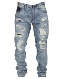 Cutty Roddick Denim Jeans Light Blue