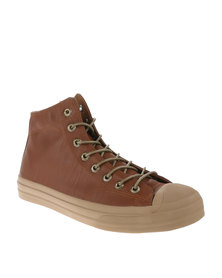 Cutty Lewis High Top Sneakers Tan