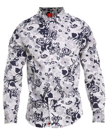 Cutty Floral Printed Shirt White